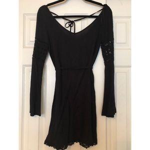 H&M Black Long Sleeve Dress